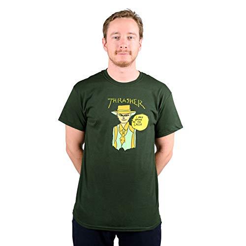 THRASHER T-Shirt Maniche Corte Uomo GONZ Cash Tee Forest Green S