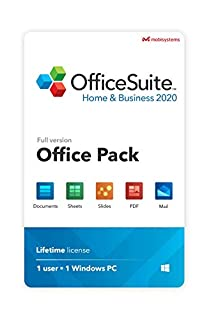 OfficeSuite Home & Business 2020 – Lifetime license – Compatible with Microsoft® Office Word®, Excel® & PowerPoint® and Adobe® PDF for 1 Windows PC or laptop (B07YL26SD9) | Amazon price tracker / tracking, Amazon price history charts, Amazon price watches, Amazon price drop alerts
