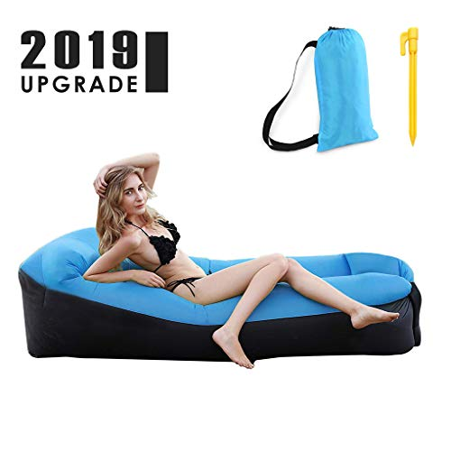 TSGarden Inflatable Lounger Air Sofa Hammock-Portable,Water Proof& Anti-Air Leaking Design-Ideal...