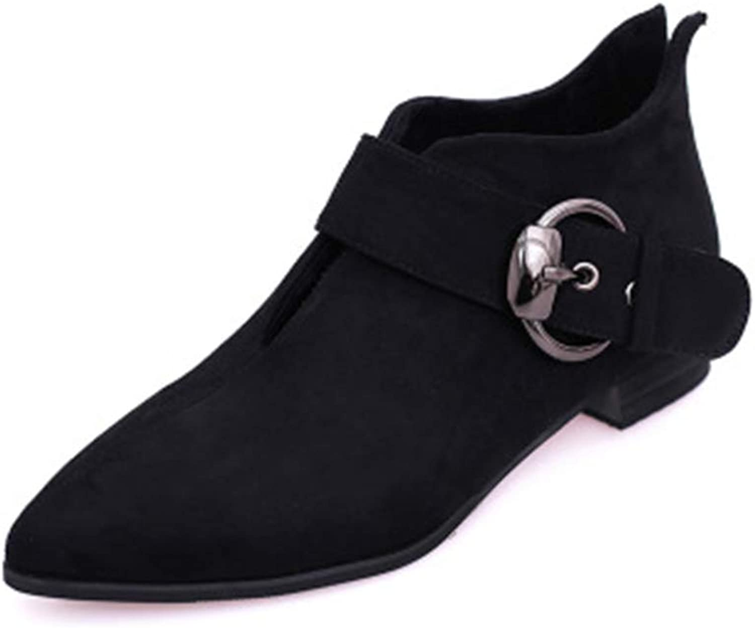 Women's Fashion Casual Outdoor Low Heel Booties shoes Martin Boots