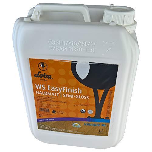 LOBADUR WS EasyFinish, Kork und Parkettlack auf wasserbasis, für starke Beanspruchung (2,5 Liter, Halbmatt)