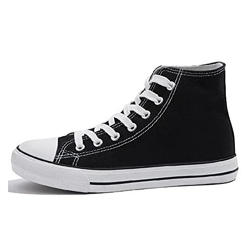 Cultz Essential Unisex Sneaker Mujer Hombre Zapatillas Altas Negro 41