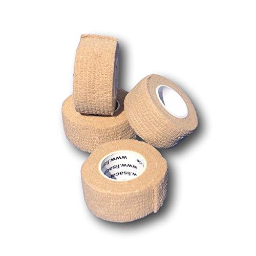 LisaCare Fingerpflaster selbsthaftend - elastisches, wasserfestes, staub- fett- und schmutzabweisendes Pflaster - HAUT - 4 Rollen á 2,5cm x 4,5m