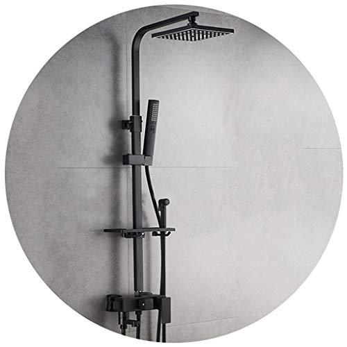 Badinstallation Duschset Bad Duschkombination Duschbad Schwarz Hebbare Dusche Quadratische Regendusche Mit Wanne (Color : A, Size : 77-115cm)