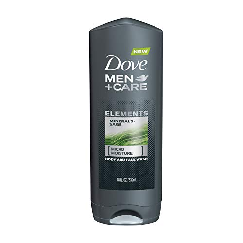 Dove Men+Care Elements Body Wash Mineral+Sage 18 oz Effectively Washes Away Bacteria While Nourishing Your Skin