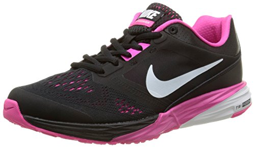 Nike Tri Fusion Run Damen Laufschuhe, Schwarz (Black/White/Pink Foil 001), 36 EU
