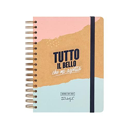 Mr. Wonderful Diario scolastico classico 2021-2022 Giornaliero - Tutto il bello che mi aspetta, Multicolore