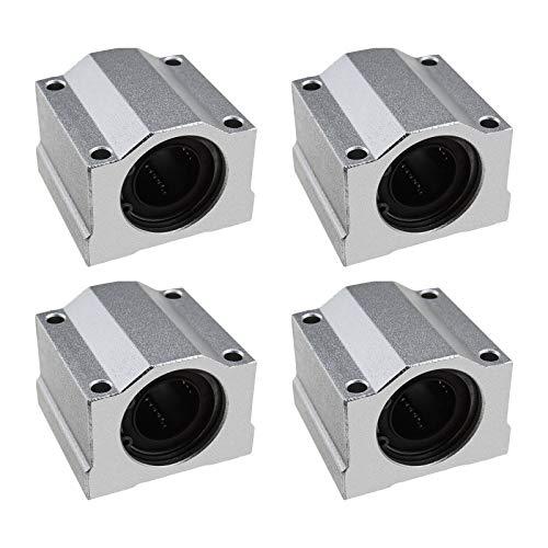 4 unids SCS20UU rodamientos de bolas de movimiento lineal deslizantes bloque de carro buje deslizante 20mm agujero 50mm longitud para CNC 3D impresora Accesorios