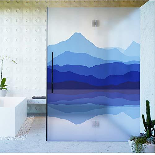 Djkaa glasvensterfolie, statisch hechtend, mat, ondoorzichtig, privacy, glasfolie, contact opnemen met papieren vensterdecoratie, bergmeer