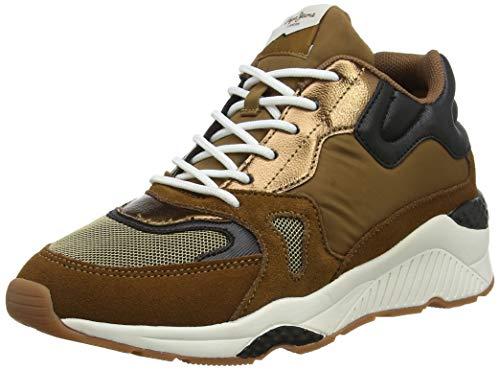 Pepe Jeans London Harlow Up Run, Sneaker a Collo Alto Donna, Marrone (Biscuit 850), 39 EU