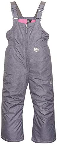 ZeroXposur Girls Snow Bib Water Repellent Insulated Kids Ski Pants Mid Heather Medium product image