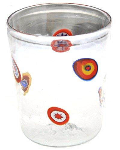 Vaso Goto Veneciano Murrine Millefiori Murano Glasses Made in Italy VE