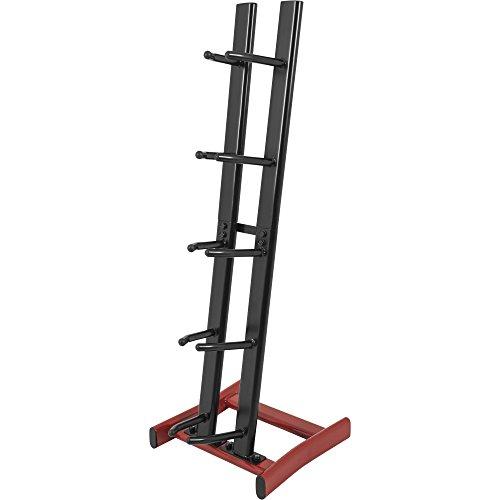 GORILLA SPORTS® Medizinball-Ständer vertikal mit 5 Ablagen – belastbar bis 100 kg in Schwarz/Rot