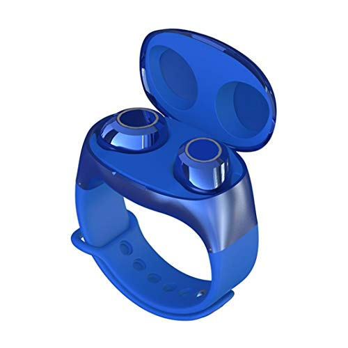 Auricolari wireless Bluetooth, HM50 Portable Sport TWS Wireless Bluetooth 5.0 in-ear cuffie stereo Blue