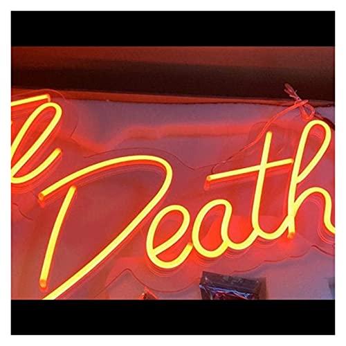 Letreros de luz de neón LED Til Death Diseño Personalizado Hecho a Mano Letreros led Color de Texto Estilos de Fuente (Color: Rosa, Tamaño: Ancho 70 cm) Creatividad