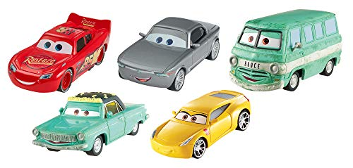 Disney Pixar Cars 3 Diecast Collection Vehicles, 5-Pack Bundle