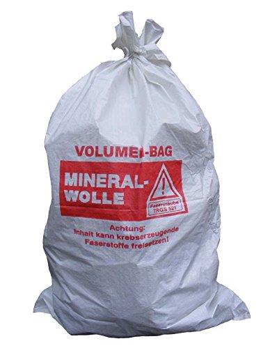 (3,50EUR/Stück) 5 Mineralwoll Säcke 1400x2200mm KFM Sack Big Bag MiWo