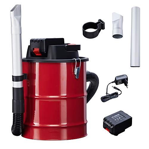Arebos Aschesauger mit Akku / 12L Auffangbehälter / 140 W/inkl. HEPA Filter
