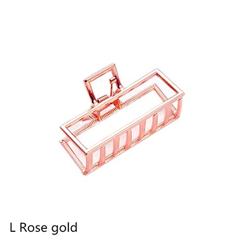 JINMENHUO Women Geometric Hair Claw Solid Color Hair Crab Retro Square Shape Pearl Hair Clips Claws Hair Accessories Large Size Hairpin,8