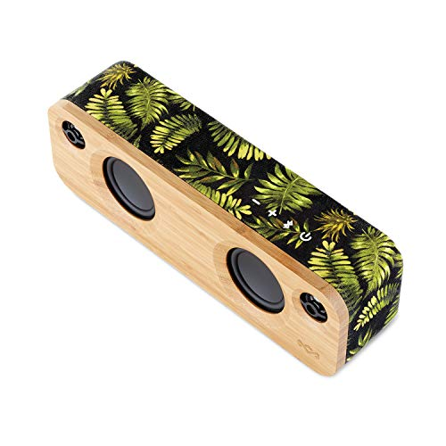 House of Marley Get Together Mini, tragbare Bluetooth Box, 2,5 Zoll Subwoofer & 1' Hochtöner, 10 Std. Akkulaufzeit, Aux-In, Laden per USB, Lautsprecher Telefonie für iPhone, iPad, Samsung etc, palm