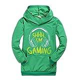Can't Hear You I'm Gaming Sudadera con capucha Youtuber Merch I'm Gaming para niños, verde, 3-4 Años