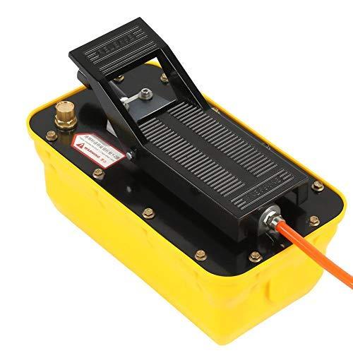 Bomba de pedal, bomba de pedal hidráulica bomba eléctrica neumática para coche + 1 acoplador + 1 tubo de aceite + 1 manguera flexible neumático, 2,3 litros