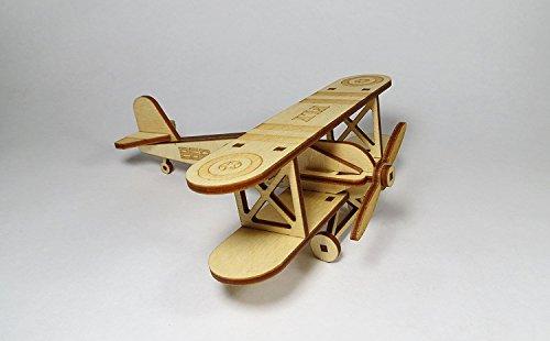 StonKraft Wooden 3D Glider Aeroplane Retro Plane Model - Home Decor, Construction...