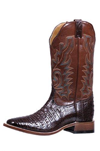Botas Americanas–Botas Cowboy bo-5503-e (pie Normal)–Hombre–Piel–Marrón, Marrón (RanchHand Tan/Caiman Belly Chocolate), 46.5
