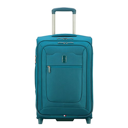 DELSEY Paris Hyperglide Softside Expandable Luggage Suitcase, 2 Wheels, Teal Blue, Carry-on 21 Inch