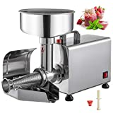 VBENLEM 110V Electric Tomato Strainer Commercial Grade Food Milling Machine Stainless Steel, Fruit Press Squeezer Sauce Maker Pure Copper Motor 90-160 Kg/H, 450W, Sliver