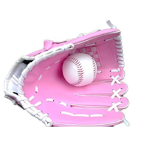 SYFO Guanti da Baseball for Bambini ZYMFOX, Guanti da Baseball di Formazione, Guanti Softball Hardball Bambini, Ragazza, Ragazzo, Femmina, Rosa # 10.5, la Mano Sinistra