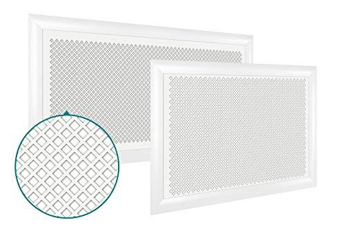 Heizkörperverkleidung | hitzebeständige MDF Platte | Heizung | Abdeckung | modern | Lüftungsgitter | verschiedene Größen | 90 x 60 cm | Dedalo