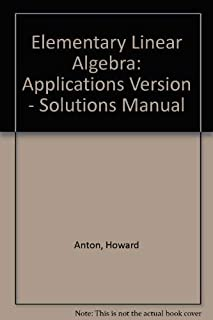 Applications Version - Solutions Manual