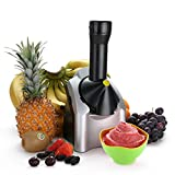 Fabricante eléctrico de postre de frutas, heladería para el hogar, fácil de usar, ideal para hacer sorbete de servir saludable y suave, sorbete y yogur congelado para niños