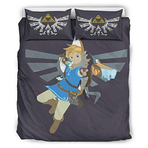 XHJQ88 Zelda Shoot Duvet Cover Sets Retro 3-Pieces Pillow/Duvet Cases - Wings Soft & Easy-Wash BOHO Bed Sheet Set white 104x90 inch