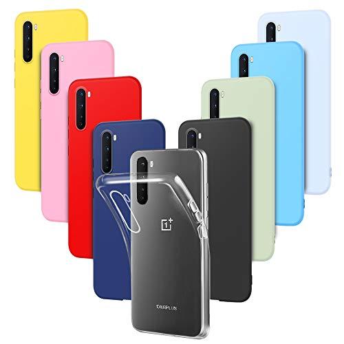 RosyHeart-EU 9X Cover per OnePlus Nord 5G, Custodia Protezione in Morbida Silicone TPU per OnePlus Nord 5G, Ultra Sottile Colore Gomma Gel Cellulari Protettiva Case Anti-Graffio Leggero - 9 Colore