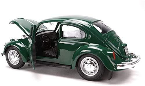 Modelo de coches para niños Fundición a presión de metal del modelo del coche, detallada del Interior, regalos de cumpleaños for niños y niñas, 1: 24 escarabajo clásico de aleación modelo de coche de