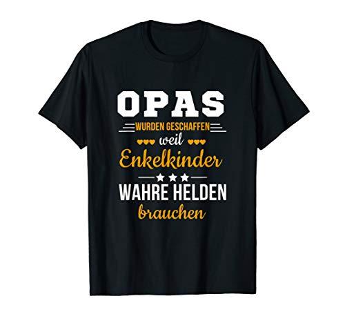 Opas weil Enkelkinder Wahre Helden Brauchen Großvater Spruch T-Shirt