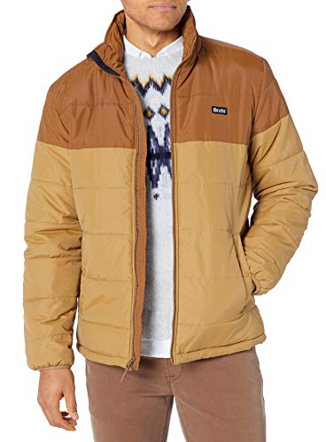 Brixton Men's CASS Relaxed FIT Puffer Jacket, Copper/Washed Copper, M