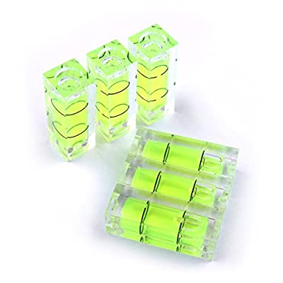 Atoplee 10pcs Spirit Bubble Level Caravan Camping Outdoors Surface Leveler