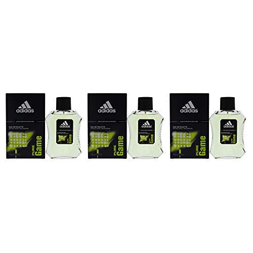 3 x Adidas Pure Juego EDT cada 100ml para los hombres Spray Natural