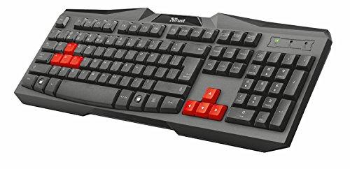 Trust Ziva - Teclado Gaming, Layout español, Negro