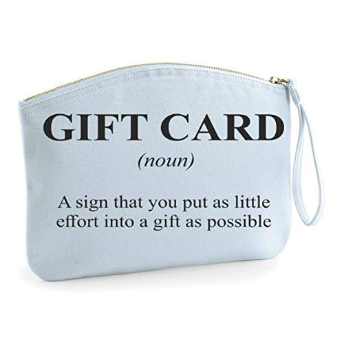 Gift Card Alternative Dictionary Definition [DEF] make up bag - organic cosmetic wristlet case - blue, small