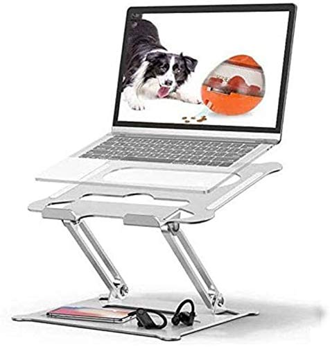 Adjustable Laptop Stand,Laptop Stand Adjustable Laptop Riser Ergonomic Stand Holder for MacBook Air, Pro, Dell, Samsung, Lenovo, Alienware (Silver)