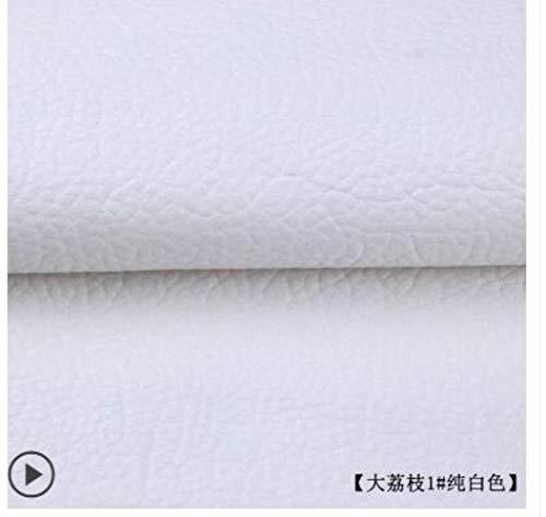 135x50cm PU lederen zelfklevende fix Subsidies Simulatie huid terug sinds de kleverige rubberen patch lederen bank stoffen Kleur: wit