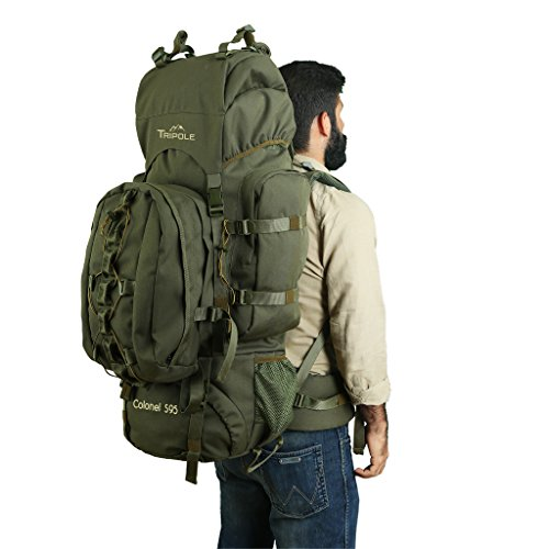 Tripole Colonel 95 Litres Rucksack + Detachable Day Pack, Army Green