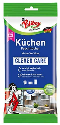 Poliboy - Küchen Feuchttücher - Kraftvolle & gründliche Reinigung für alle abwaschbaren Oberflächen - Einzeln - 24 Tücher - Made in Germany