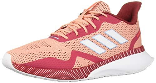 adidas Women's Nova X Running Shoe, Glow Pink/White/Active Maroon, 8 M US
