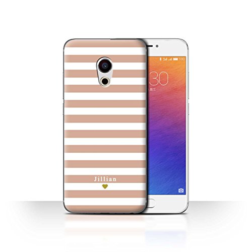 Stuff4 Phone Case/Cover/Skin/mzupro6/Custom Stripes/Striped Collection Coeur Rose Nu