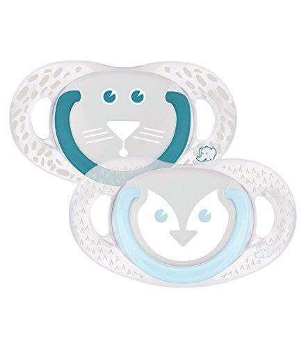 bébé confort Funny Animals Tigre&P Set de 2 Sucettes Natural Physio en Silicone 18/36 Mois